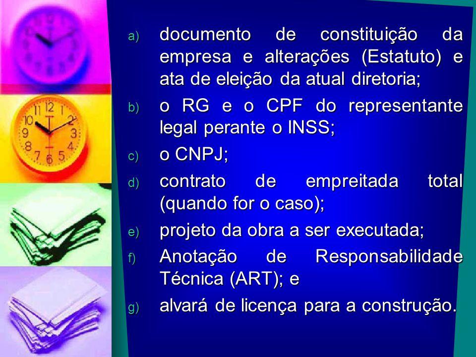 documento de constituição da empresa e alterações (Estatuto) e ata de eleição da atual diretoria;