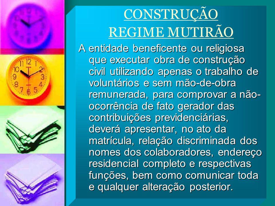 CONSTRUÇÃO REGIME MUTIRÃO