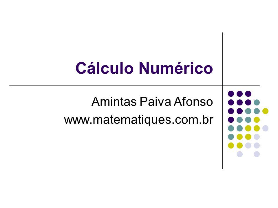 Amintas Paiva Afonso www.matematiques.com.br