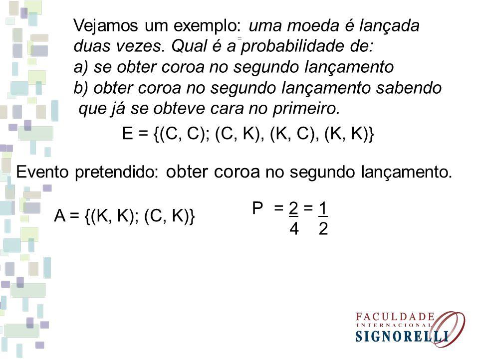 E = {(C, C); (C, K), (K, C), (K, K)}