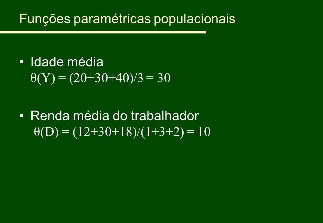Funções paramétricas populacionais