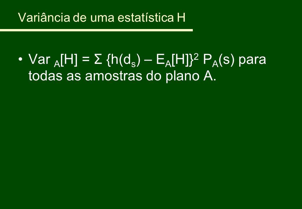 Variância de uma estatística H