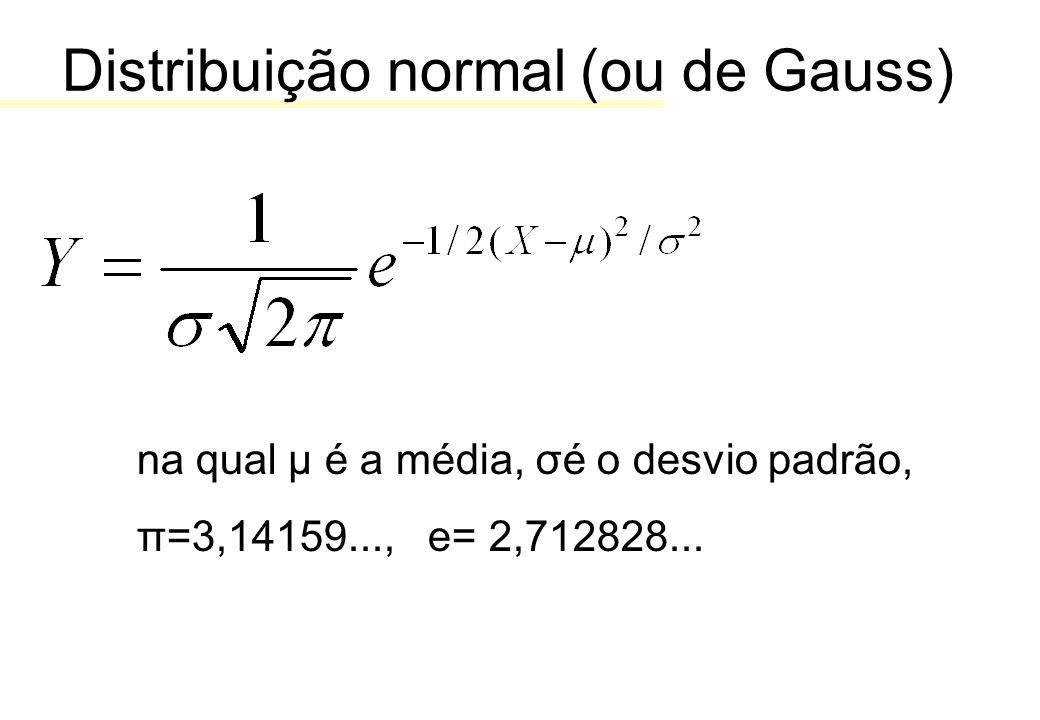 Distribuição normal (ou de Gauss)