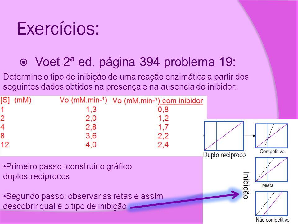 Exercícios: Voet 2ª ed. página 394 problema 19: