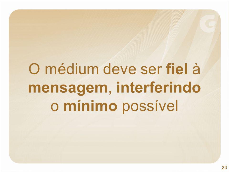 O médium deve ser fiel à mensagem, interferindo o mínimo possível