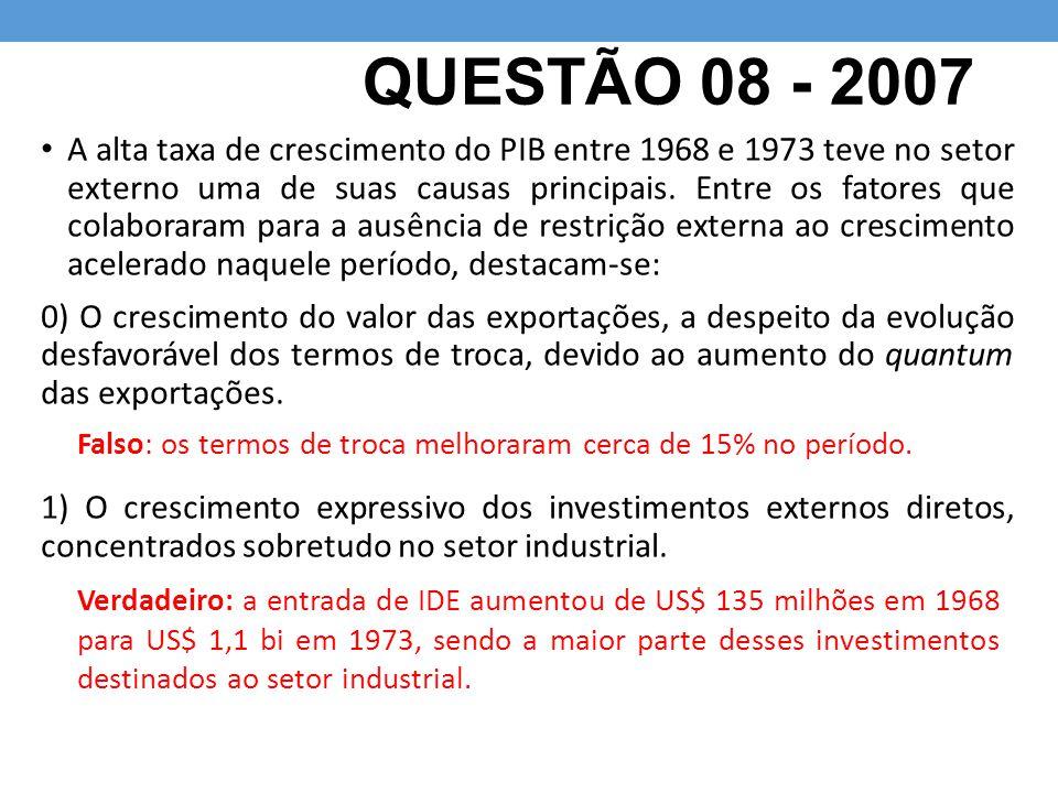 QUESTÃO 08 - 2007