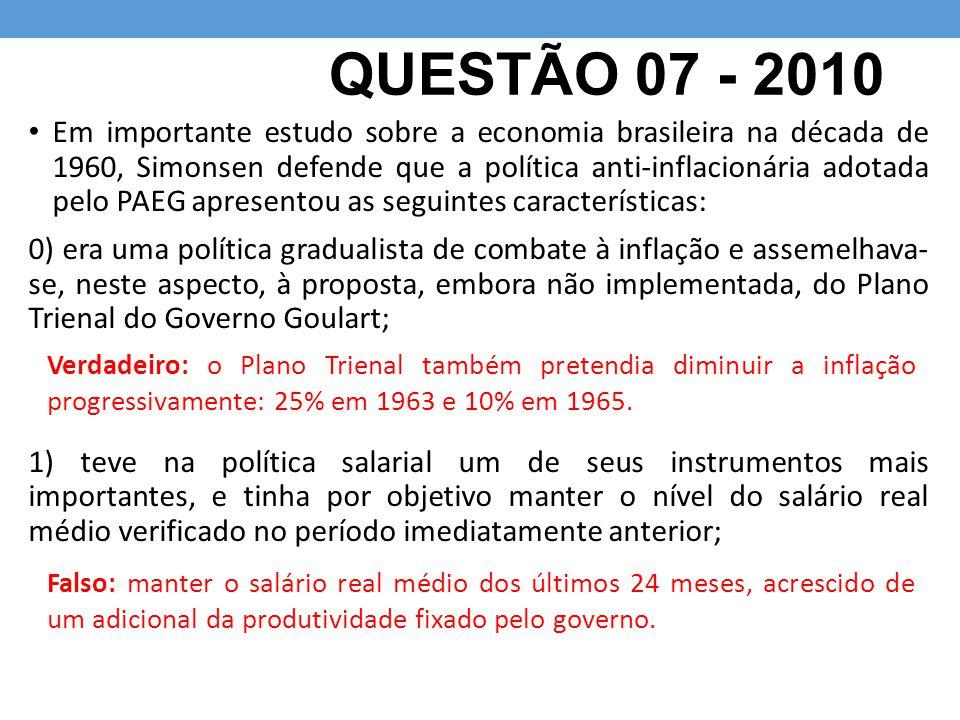 QUESTÃO 07 - 2010