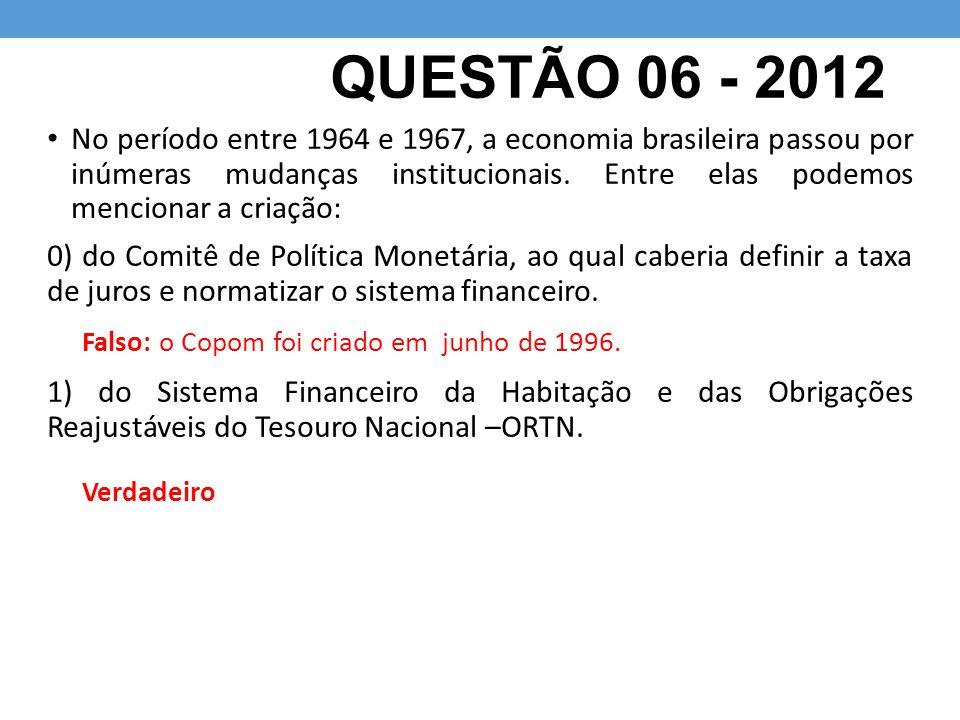 QUESTÃO 06 - 2012