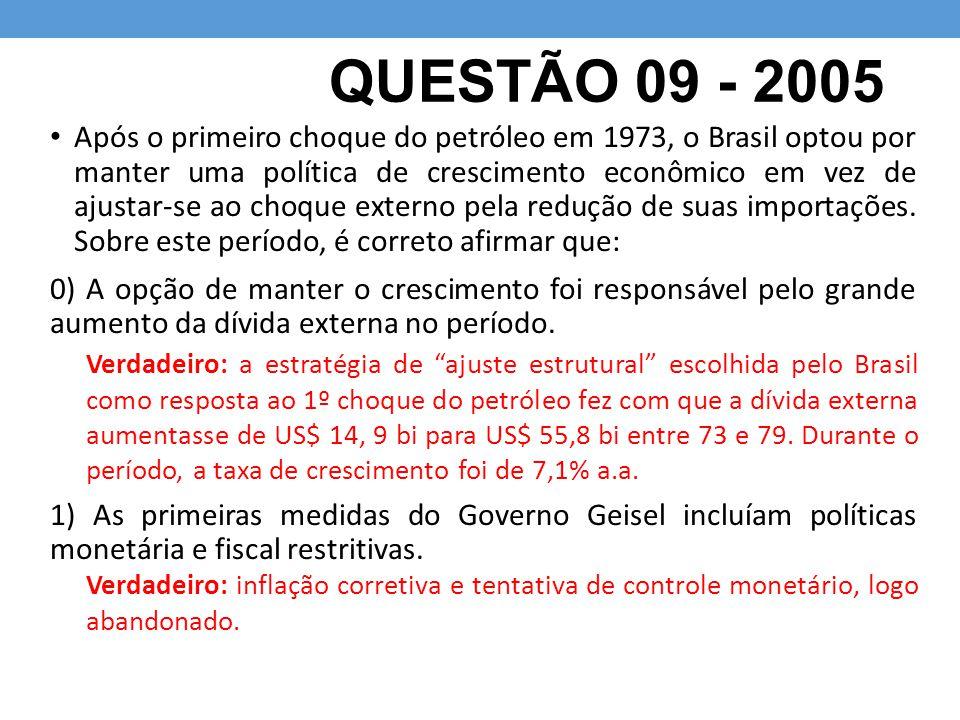 QUESTÃO 09 - 2005