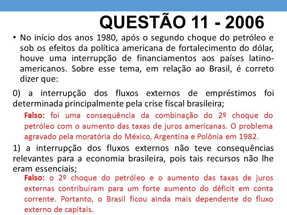QUESTÃO 11 - 2006