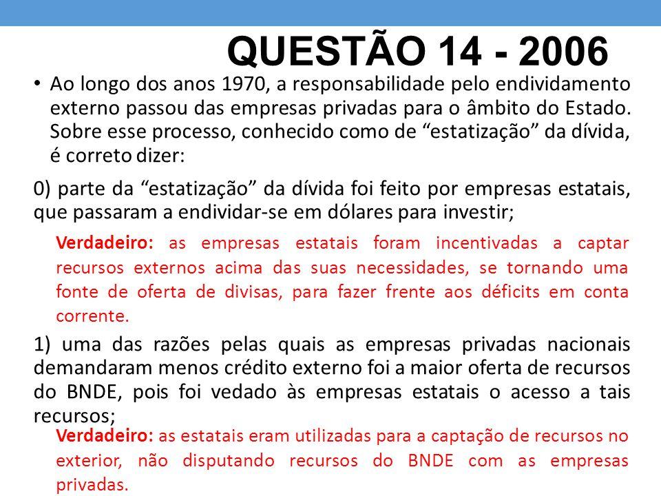 QUESTÃO 14 - 2006