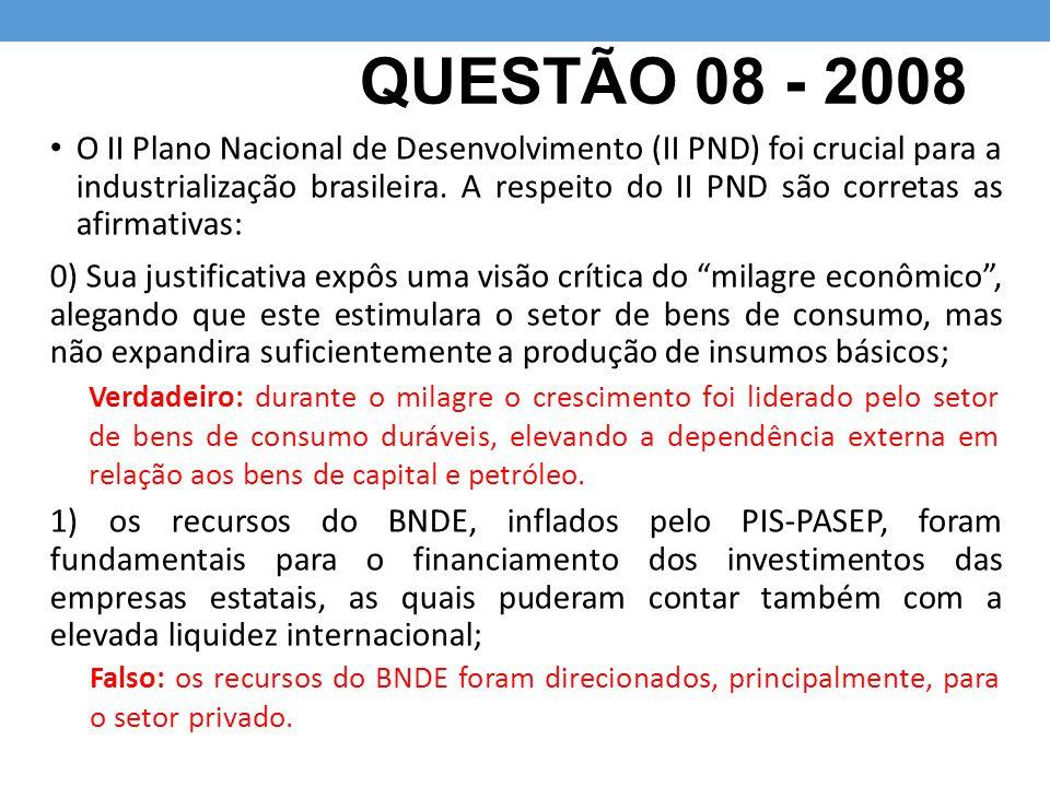 QUESTÃO 08 - 2008