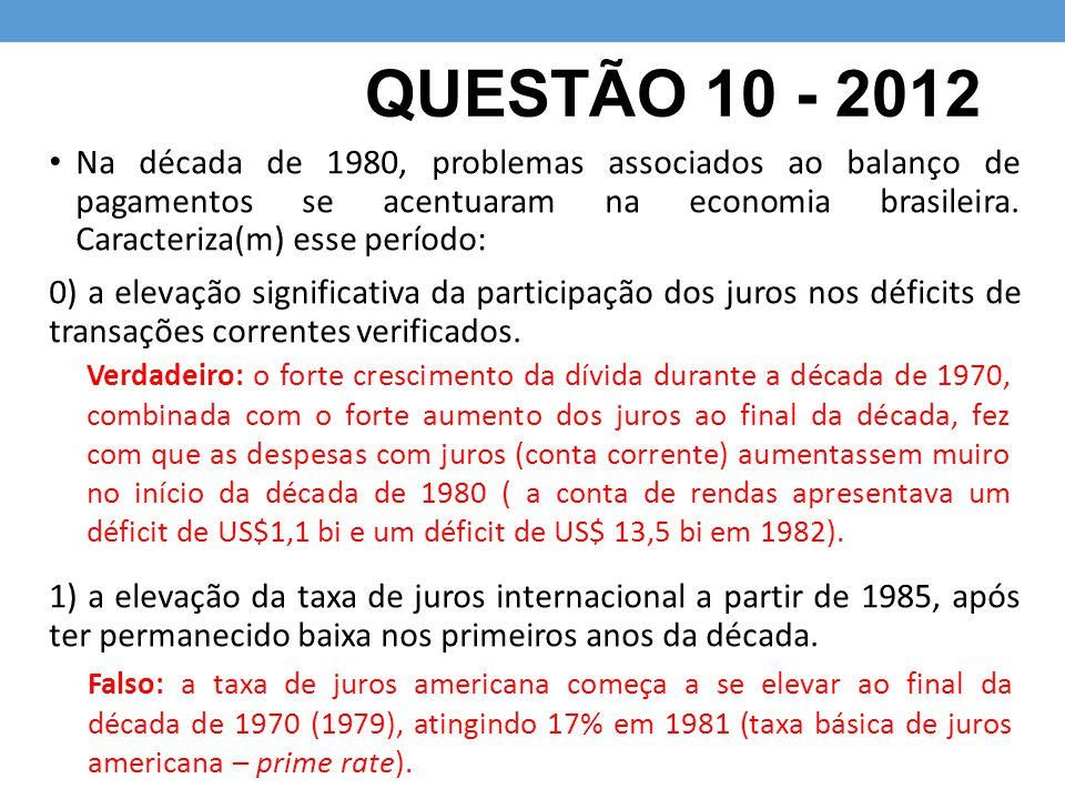 QUESTÃO 10 - 2012