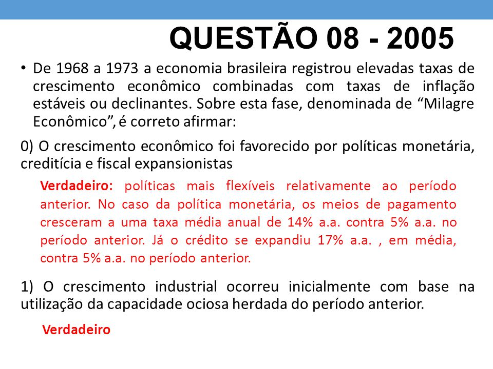 QUESTÃO 08 - 2005