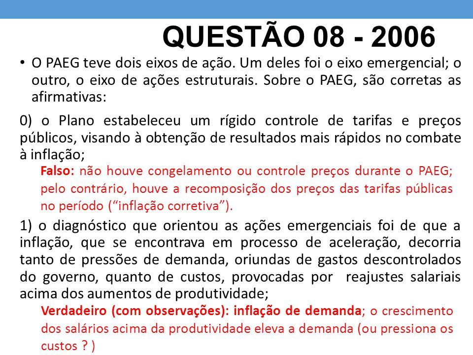 QUESTÃO 08 - 2006