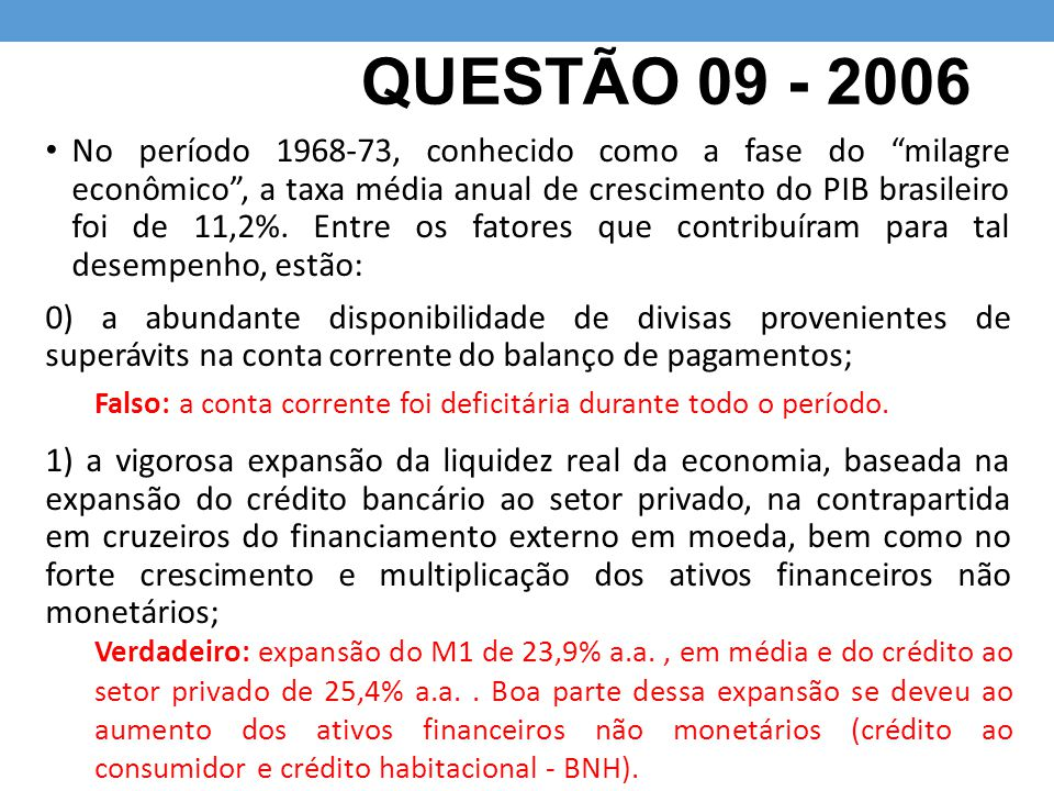 QUESTÃO 09 - 2006