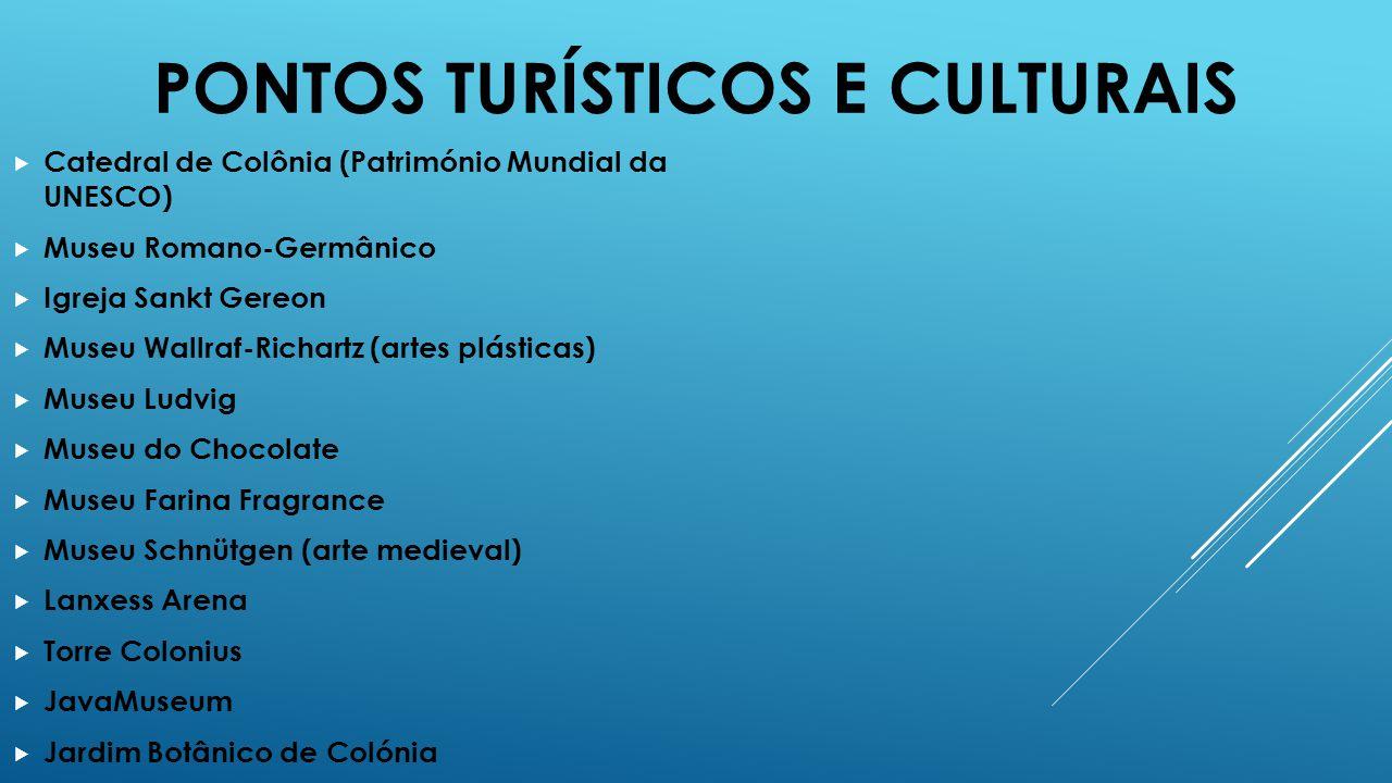 PONTOS TURÍSTICOS E CULTURAIS