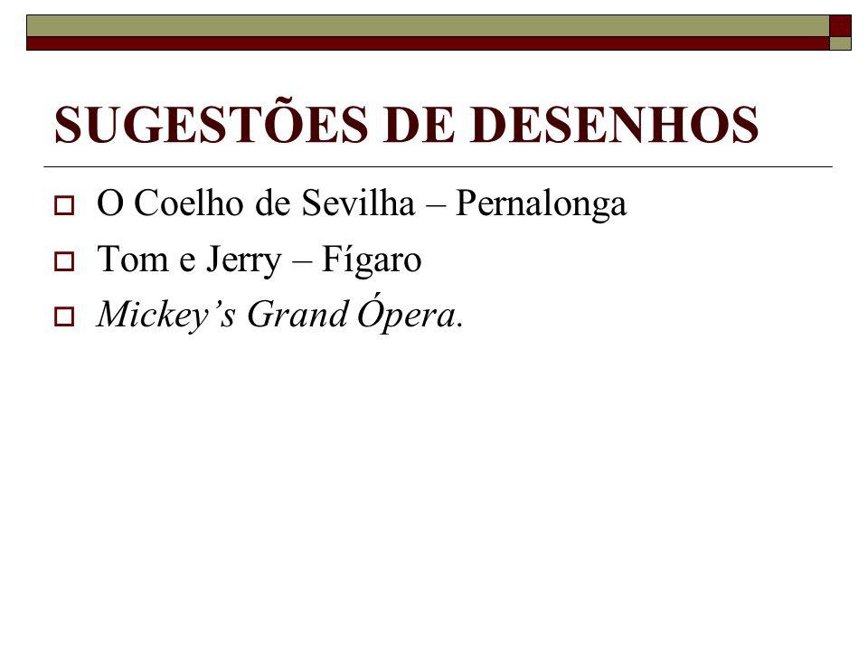 SUGESTÕES DE DESENHOS O Coelho de Sevilha – Pernalonga