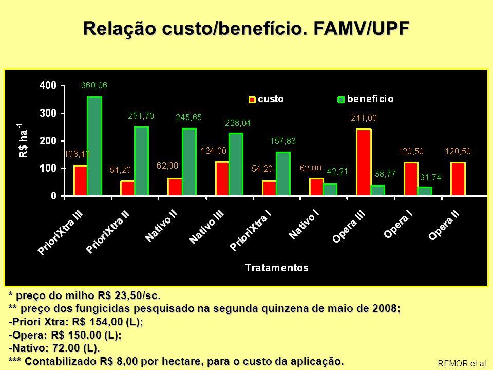 Relação custo/benefício. FAMV/UPF