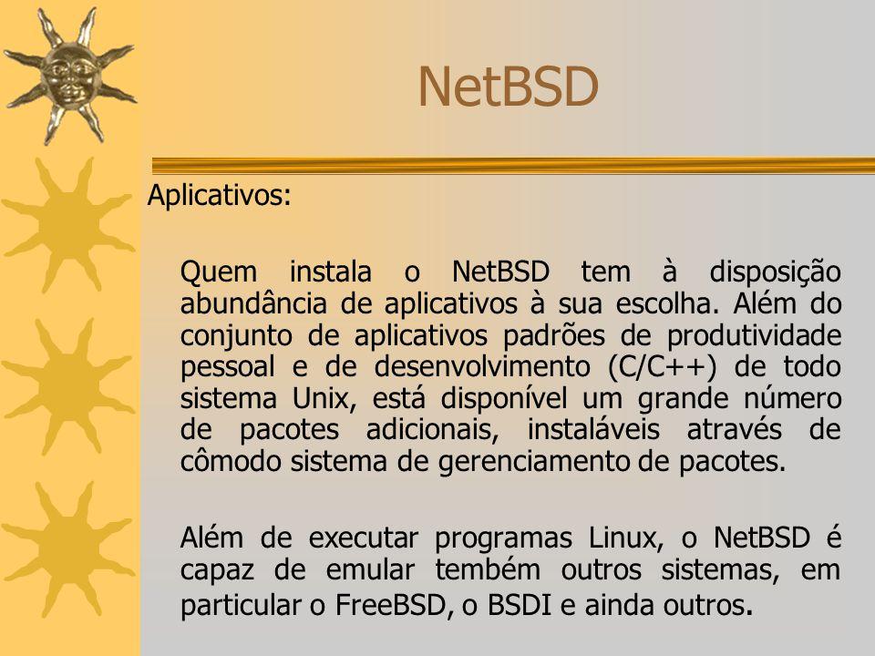 NetBSD Aplicativos: