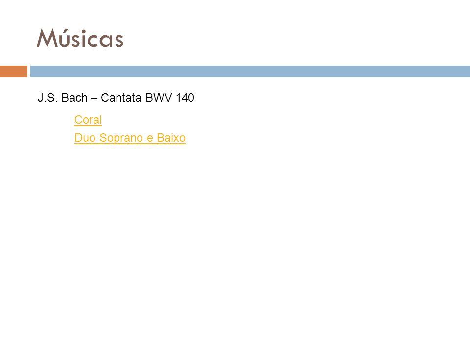 Músicas J.S. Bach – Cantata BWV 140 Coral Duo Soprano e Baixo