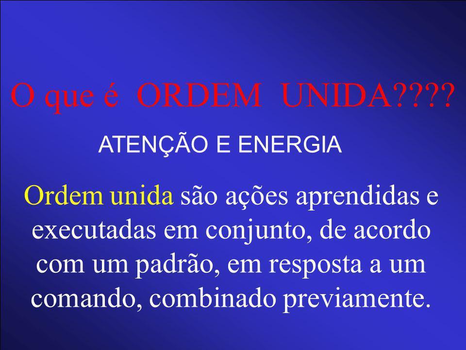 O que é ORDEM UNIDA ATENÇÃO E ENERGIA.