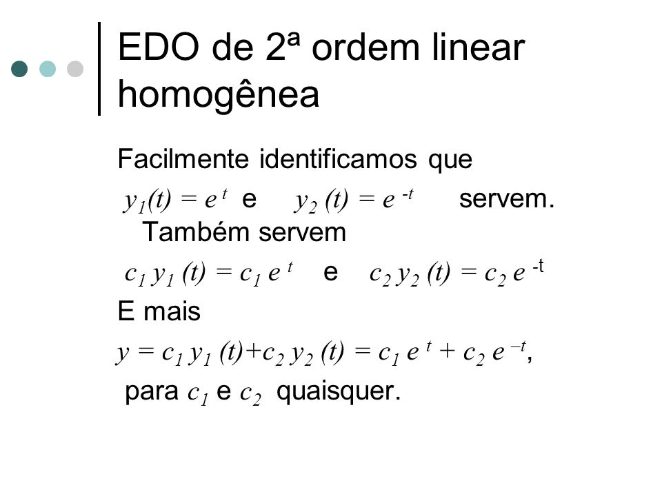 EDO de 2ª ordem linear homogênea