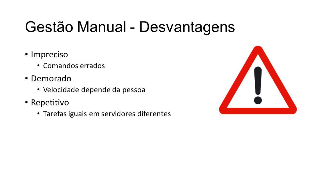 Gestão Manual - Desvantagens