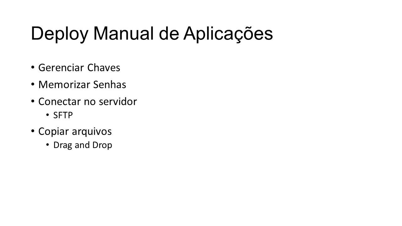 Deploy Manual de Aplicações