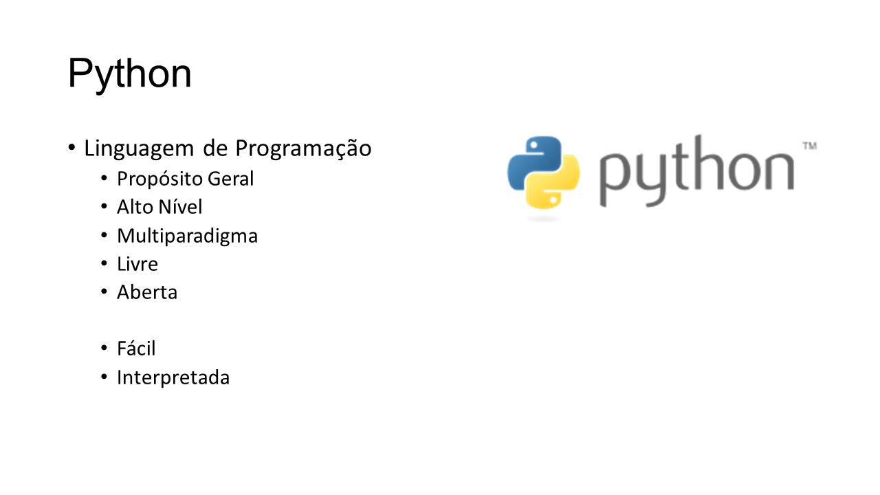 Python Linguagem de Programação Propósito Geral Alto Nível