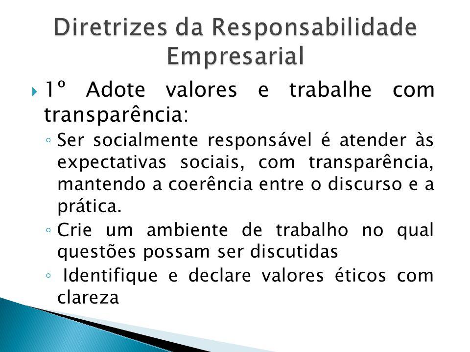 Diretrizes da Responsabilidade Empresarial