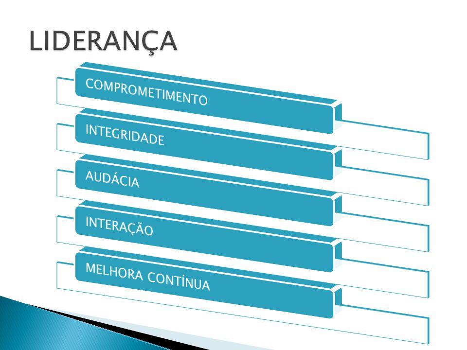 LIDERANÇA COMPROMETIMENTO INTEGRIDADE AUDÁCIA INTERAÇÃO