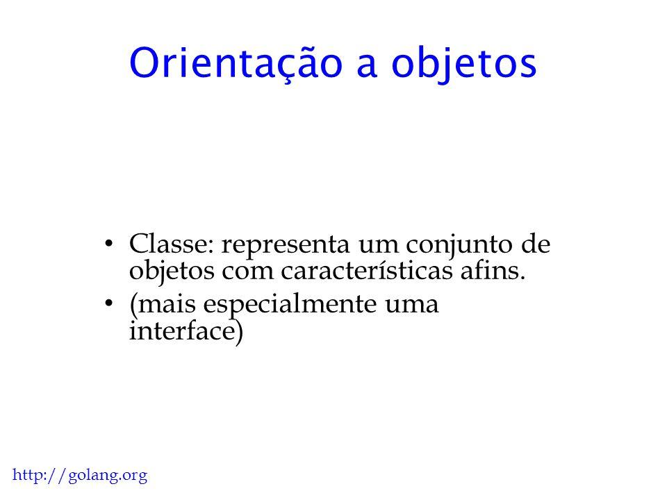 Orientação a objetos Classe: representa um conjunto de objetos com características afins. (mais especialmente uma interface)