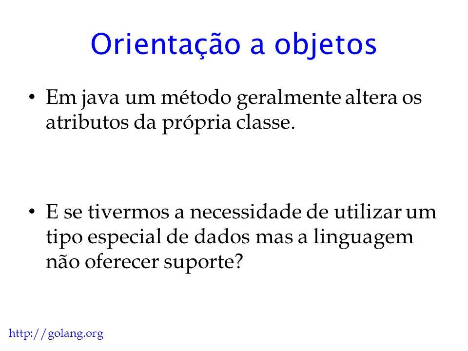 Orientação a objetos Em java um método geralmente altera os atributos da própria classe.