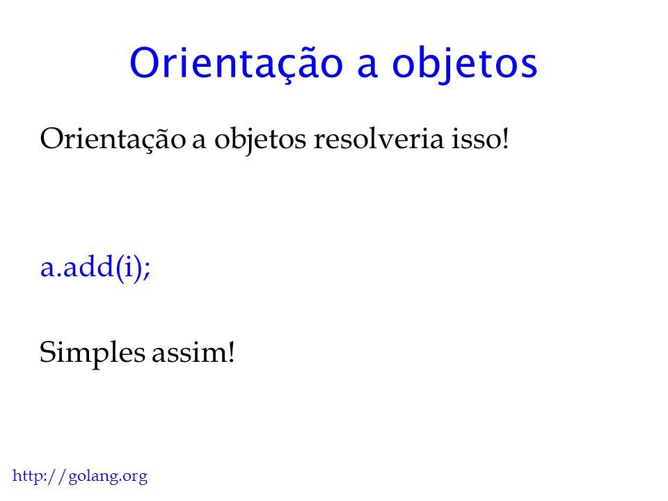 Orientação a objetos Orientação a objetos resolveria isso! a.add(i);