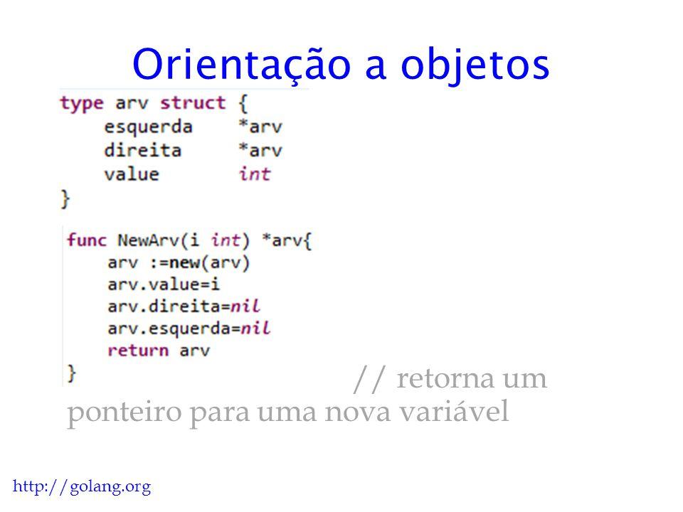 Orientação a objetos // retorna um ponteiro para uma nova variável