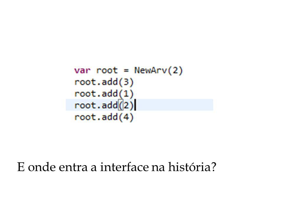 E onde entra a interface na história