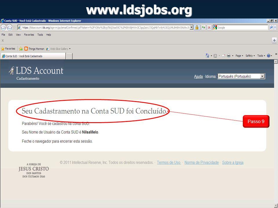 www.ldsjobs.org Passo 9