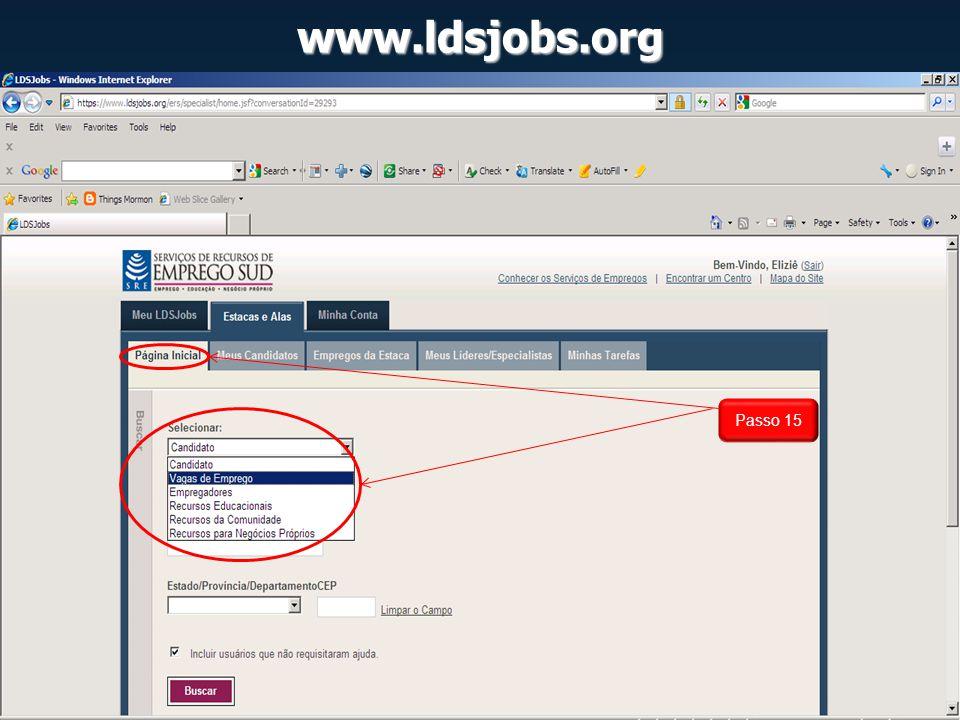 www.ldsjobs.org Passo 15