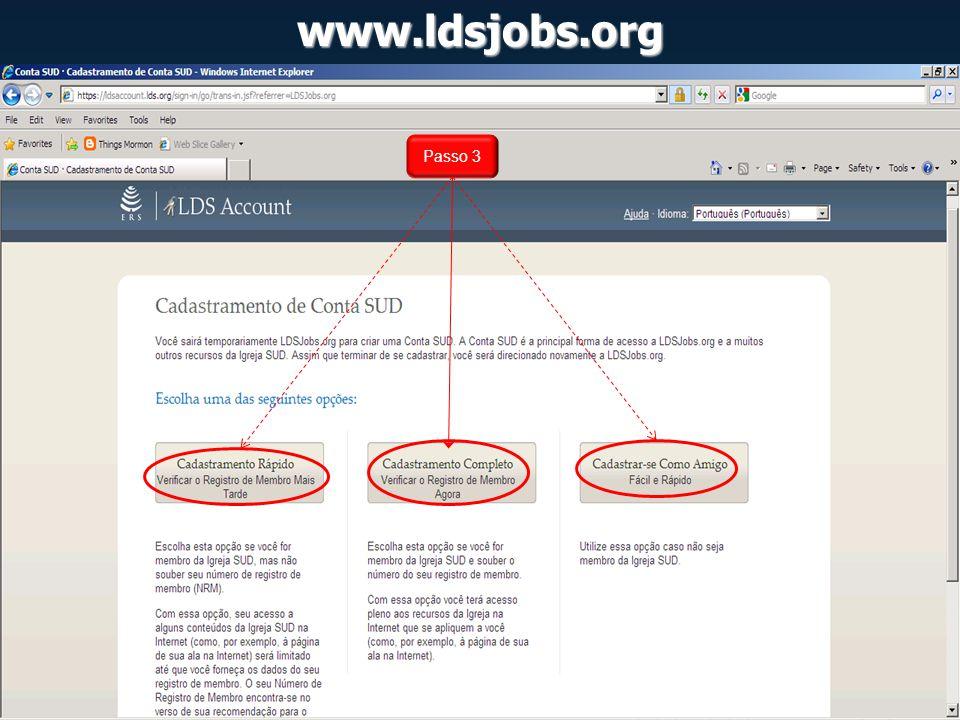 www.ldsjobs.org Passo 3