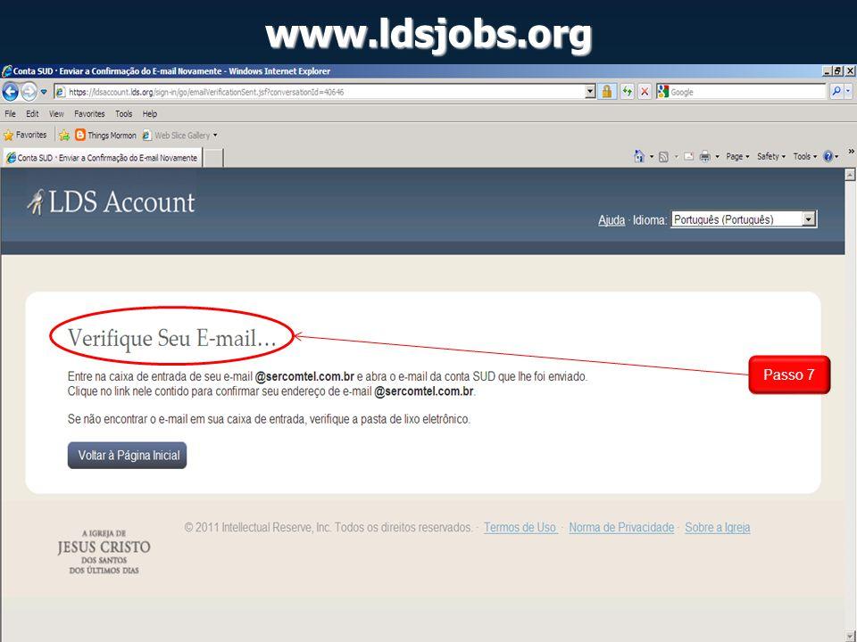 www.ldsjobs.org Passo 7