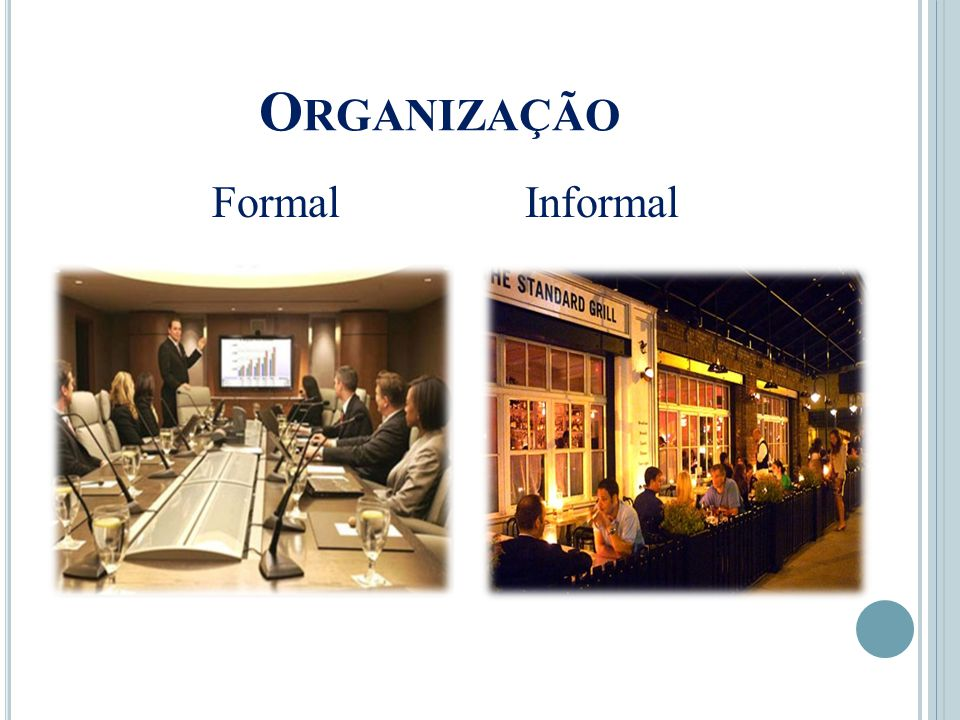 Organização Formal Informal