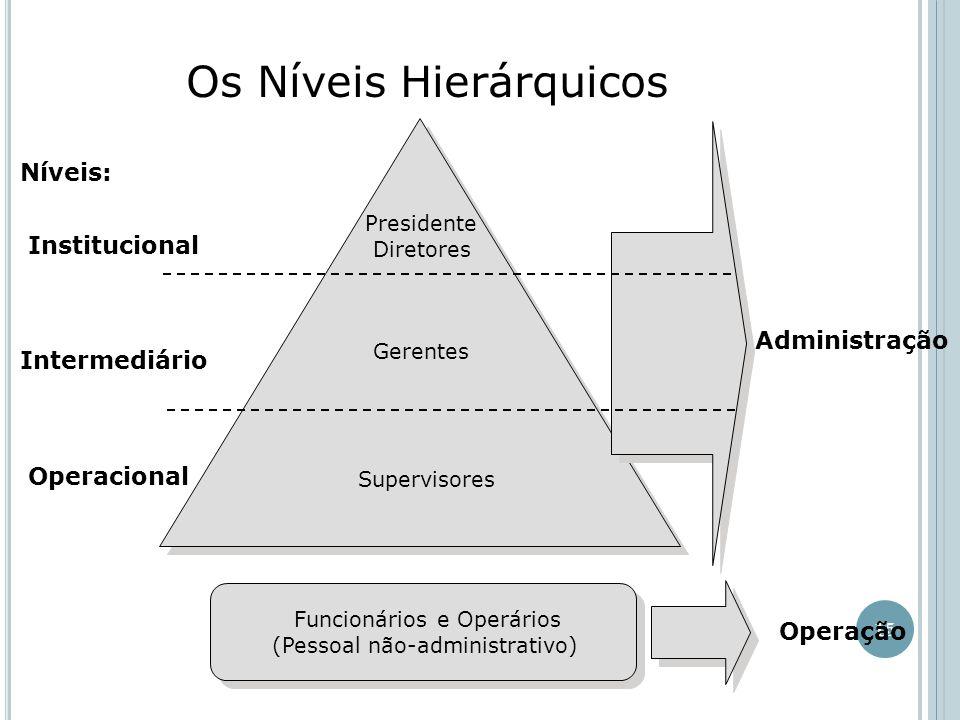 Os Níveis Hierárquicos