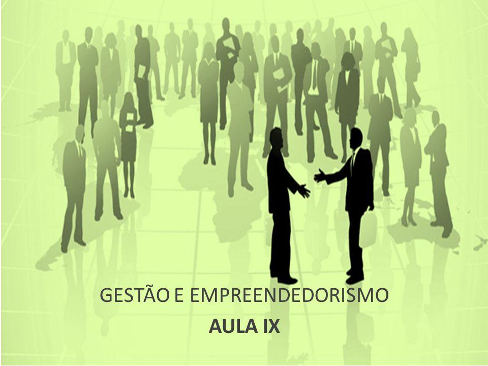 GESTÃO E EMPREENDEDORISMO AULA IX
