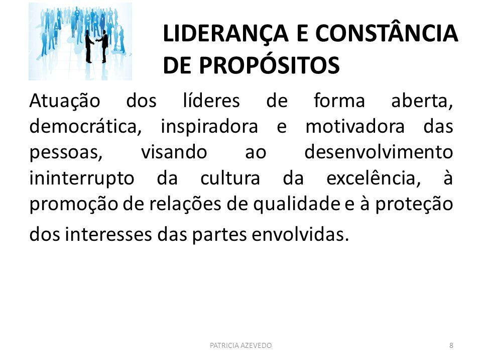 LIDERANÇA E CONSTÂNCIA DE PROPÓSITOS