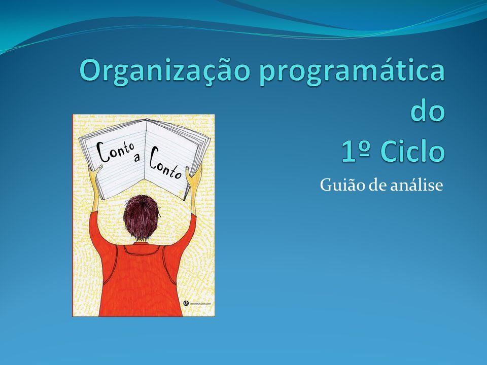 Organização programática do 1º Ciclo