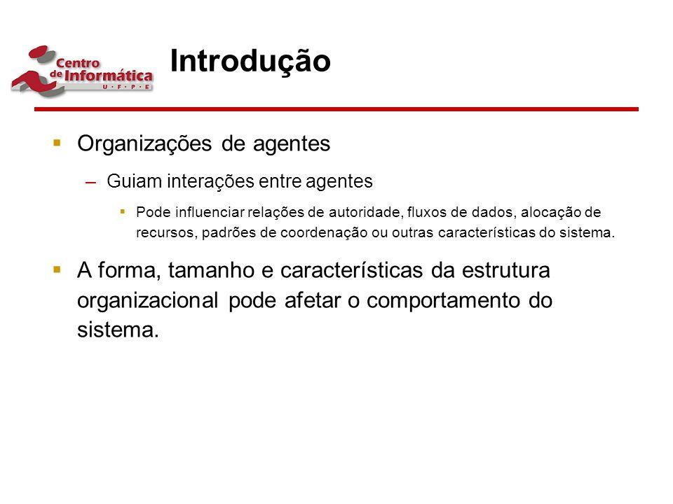 Introdução Organizações de agentes