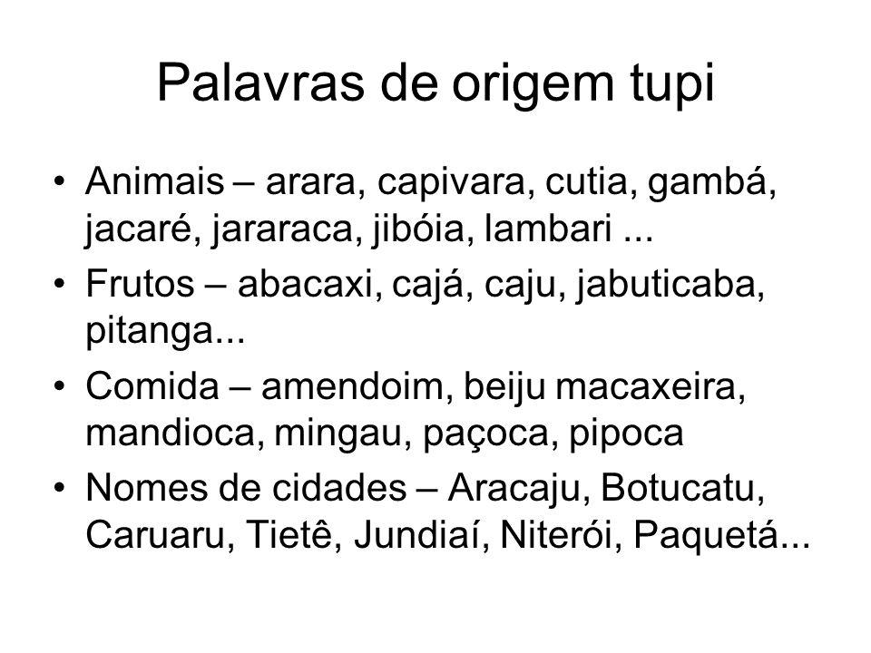 Palavras de origem tupi