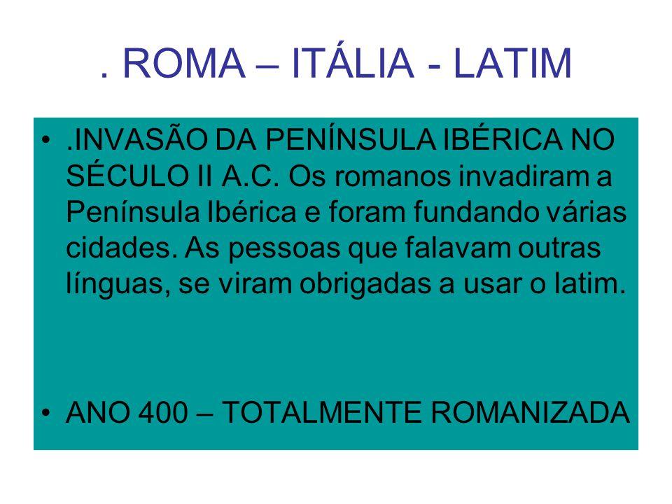 . ROMA – ITÁLIA - LATIM