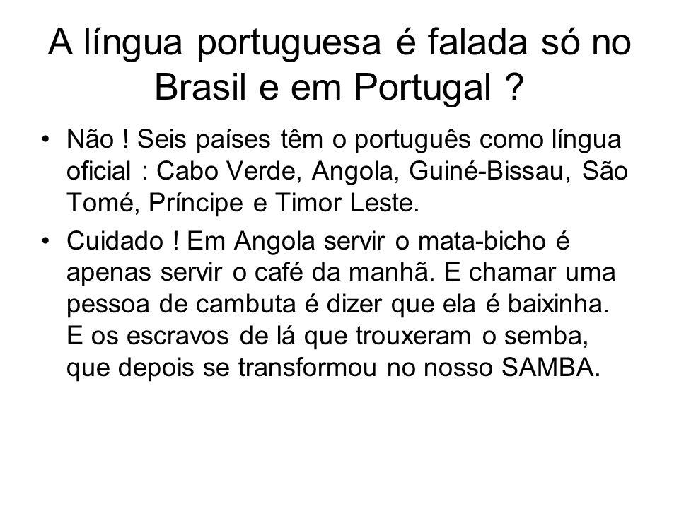 A língua portuguesa é falada só no Brasil e em Portugal